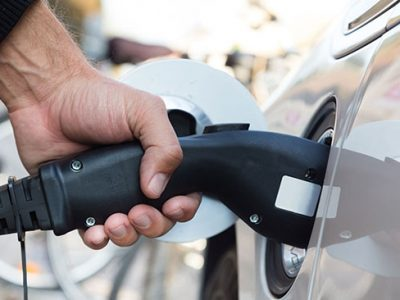 punto de recarga para vehiculos electricos
